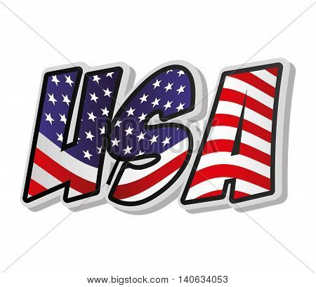united states of america word vector isolated graphic