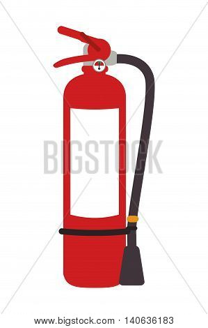 flat design fire extinguisher icon vector illustration