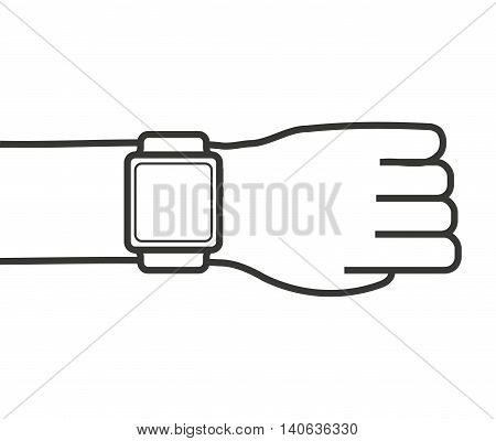 watch smart wearable icon graphic isolated vector