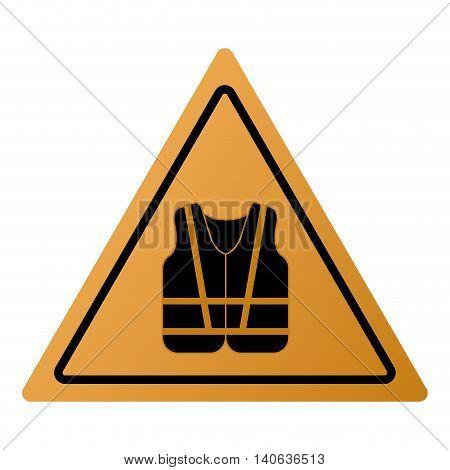 flat design safety vest icon vector illustration sign