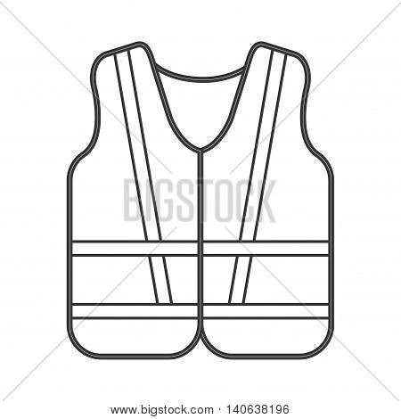 flat design safety vest icon vector illustration