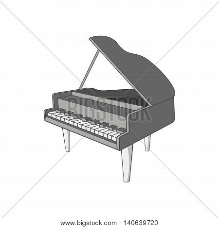 Piano icon in cartoon style isolated on white background. Musical instrument symbol