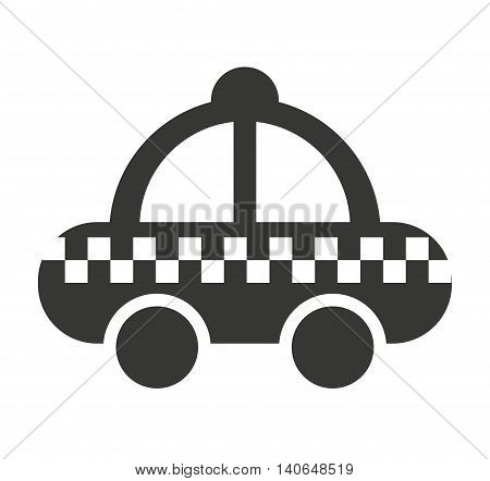 taxi service public icon vector isolated graphic