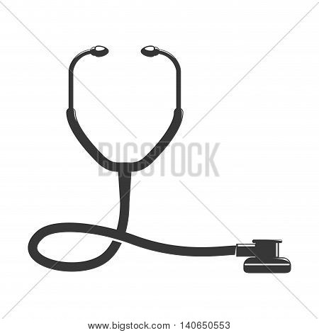 Medical and Health care concept represented by stethoscope icon. Isolated and flat illustration