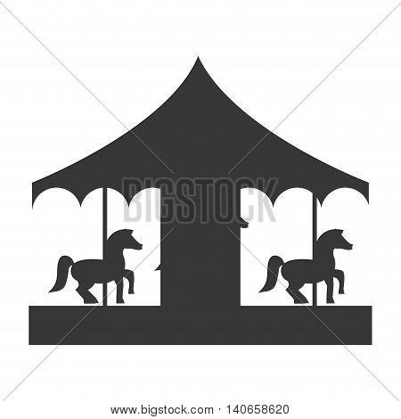 flat design pretty carousel icon vector illustration