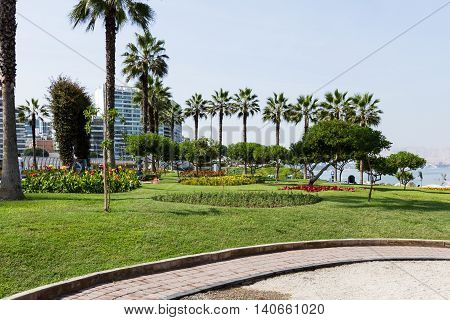 Love Park In Miraflores Lima