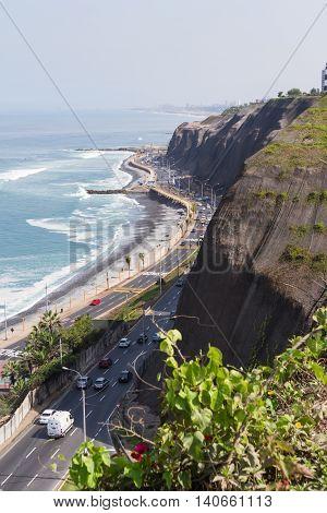 Coastal Highway In Lima, Peru