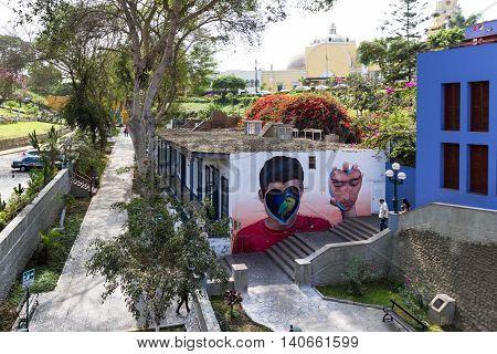 Mural Art In Barranco Peru