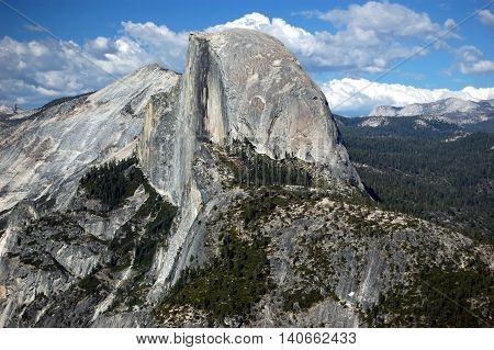 closeup of Half Dome as seen from Glacier Point, Yosemite National Park