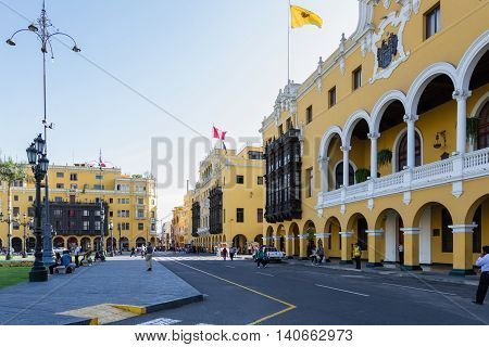 Municipalidad De Lima, Municipal Building