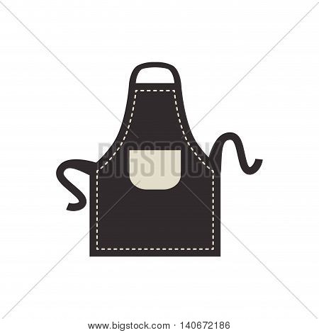 Bakery supply concept represented by apron icon. Isolated and flat illustration