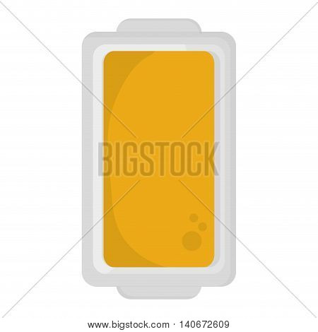 flat design butter on plate topview icon vector illustration