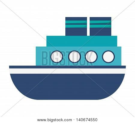 flat design motor boat icon vector illustration