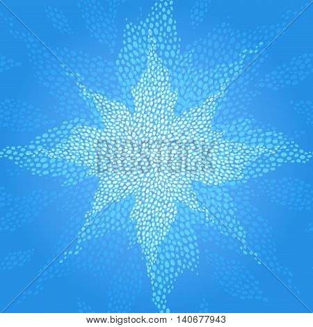 Seamless Pattern With A Shining Star.
