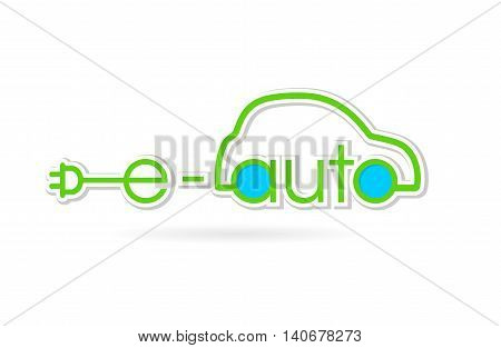 Electric auto green text logo on a white background