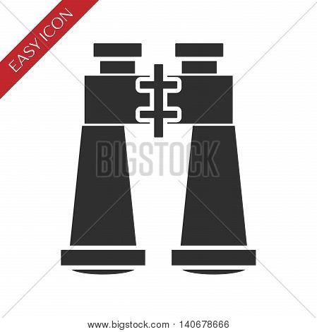 Binoculars icon on white background. Vector illustration, EPS 10
