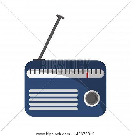 flat design classic radio icon vector illustration