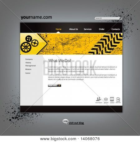 Bau-Website Entwurfsvorlage - Vektor-illustration