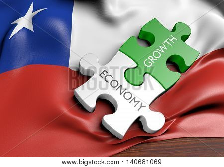 Chile economy and financial market growth concept, 3D rendering