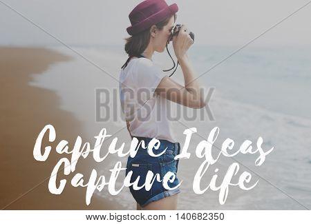 Capture Ideas life Memories Collection Concept