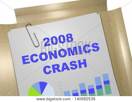 2008 Economic Crash Concept