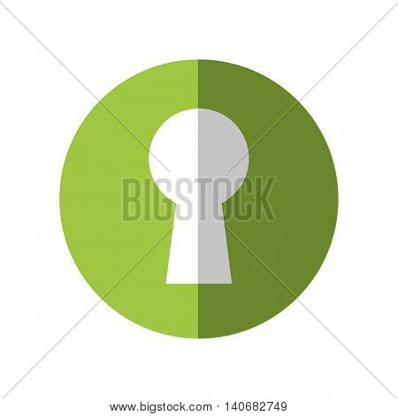 Security and Protection concept represented by key hole icon. Isolated and flat illustration