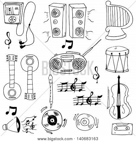 Doodle of music stock object vector illustration