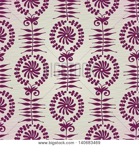 Vector Seamless Pattern In Ethnic Style.