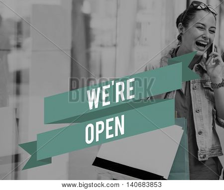 Open Available Shop Welcome Business Open Concept