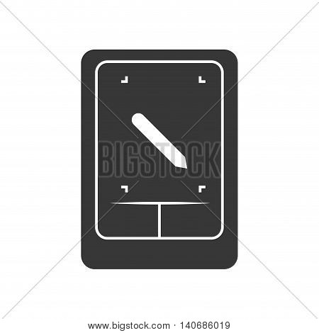 Time concept represented by frame clock icon. Isolated and flat illustration