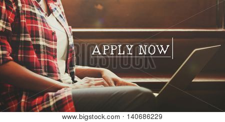 Apply Now Recruitment Register Opportunity Concept