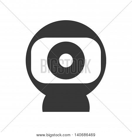 Technology and gadget concept represented by Webcam icon. Isolated and flat illustration