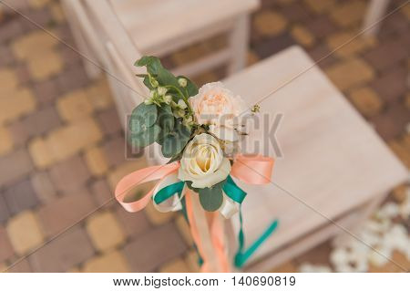 Chair Set For Wedding Or Another Catered Event