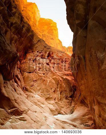 Red Colored Canyon on Sinai Peninsula, Egypt