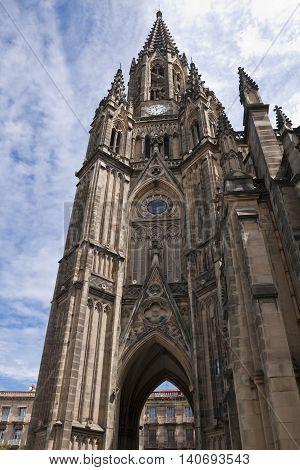 Bell Tower of Cathedral of Good Shepherd (San Sebastián Spain)