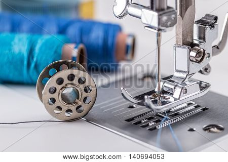 Detail Of Sewing Machine