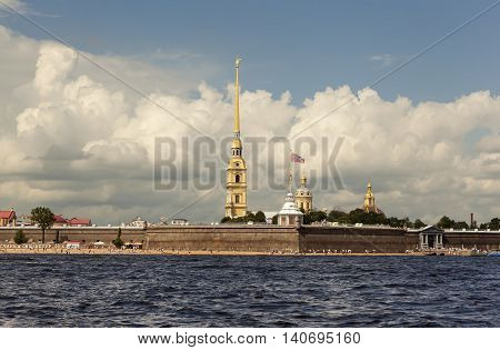 ST. PETERSBURG, RUSSIA - JULY 31, 2016: Photo of Peter and Paul Fortress.