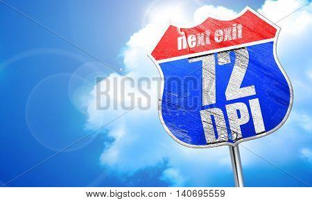 72 dpi, 3D rendering, blue street sign