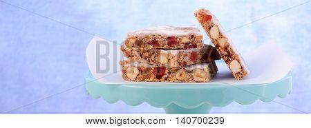Panforte Cake Slices Social Media Banner