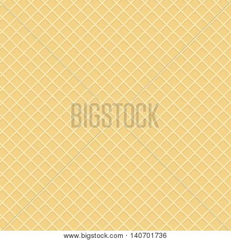 wafer background or waffle dessert template illustration