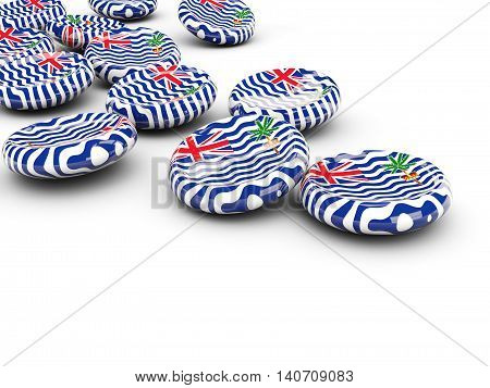 Flag Of British Indian Ocean Territory, Round Buttons