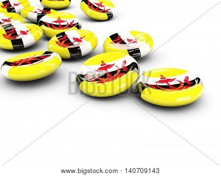 Flag Of Brunei, Round Buttons