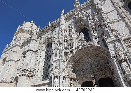 Monastery of the Hieronymites in Lisbon. Portugal