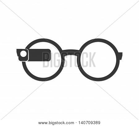 Wearable technology concept represented by Glasses icon. Isolated and flat illustration