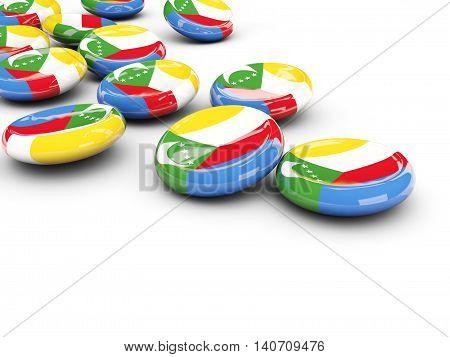 Flag Of Comoros, Round Buttons