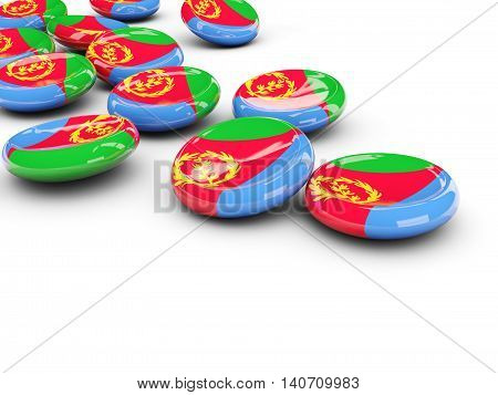 Flag Of Eritrea, Round Buttons