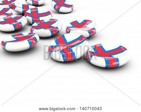 Flag Of Faroe Islands, Round Buttons