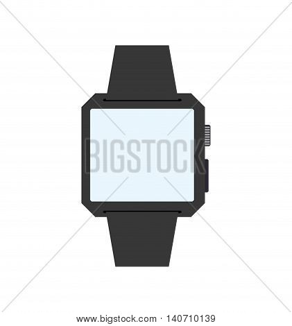 Wearable technology concept represented by Watch icon. Isolated and flat illustration