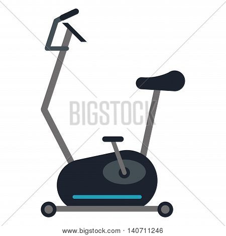 flat design spinning bike icon vector illustration