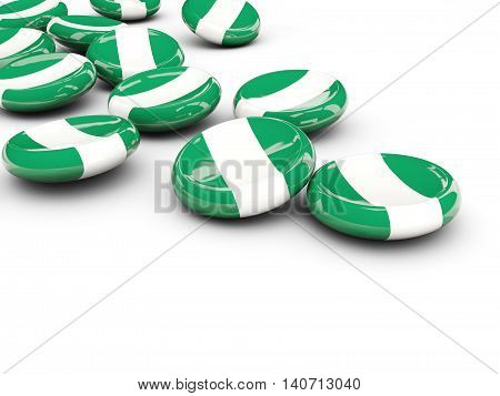 Flag Of Nigeria, Round Buttons